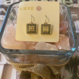 "🛍NEW LUXE EARINGS AS SHOWN🛍1 1/2"" DROP🛍"
